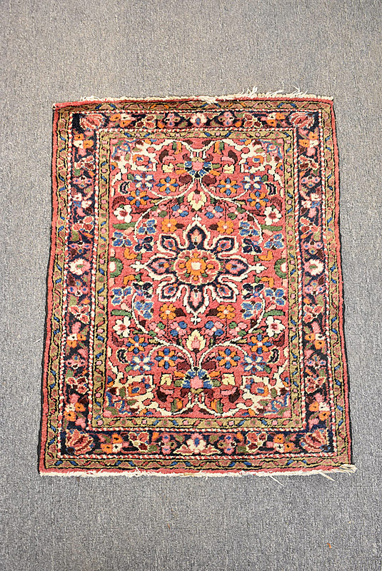 121. Persian Mat, 3ft 1in x 2ft 6in |  $153.75