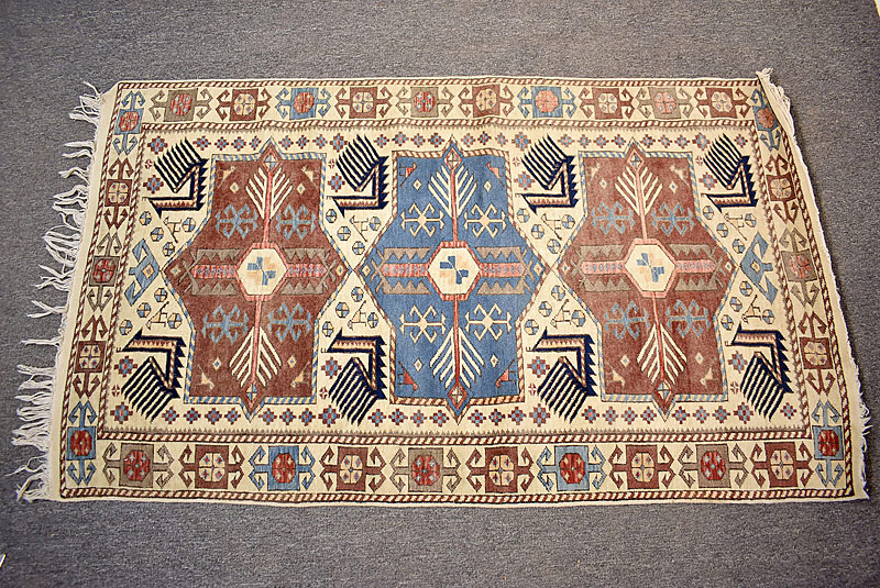 122. Caucasian Area Carpet, 5ft 8in x 3ft 3in |  $118