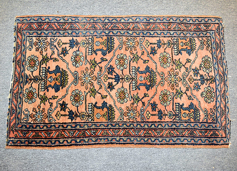 125. Sarouk Mat, 4ft 1in x 2ft 7in |  $123