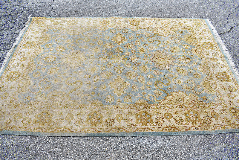 126. Oriental Area Carpet, 9ft x6ft 6in |  $35.40