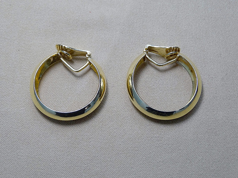 135. Pair of 18K Yellow Gold Hoop Earrings |  $560.50