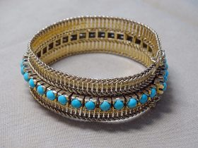 137. Turquoise and 18K Yellow Gold Bracelet |  $1,888
