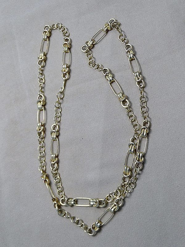 143. 18K Yellow Gold Unique Link Necklace |  $1,652