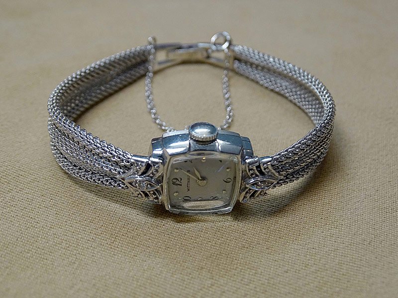 152. Ladies Wittanauer 14K White Gold Wristwatch |  $383.50