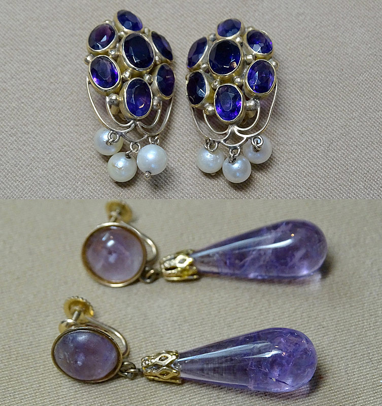 158. Two Prs. Amethyst Earrings in 14K Yellow Gold |  $276.75