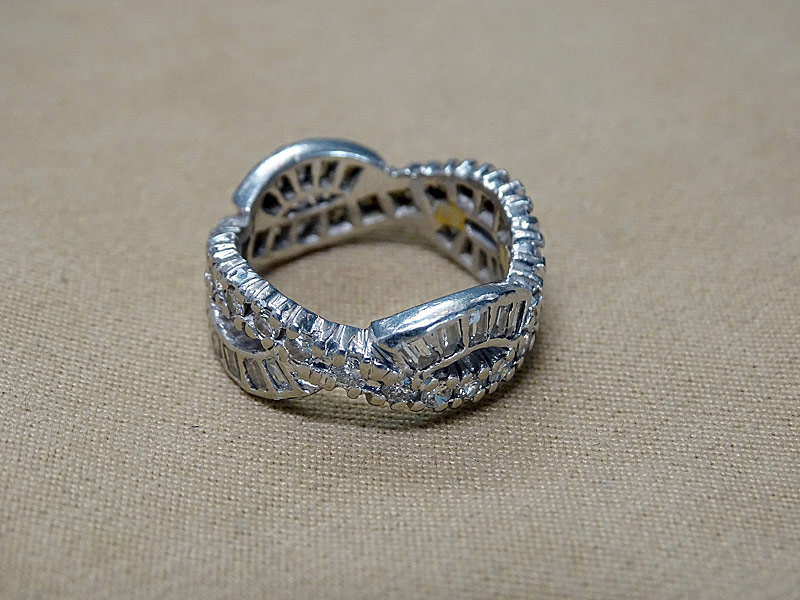 162. Platinum Diamond Band Ring |  $1,121