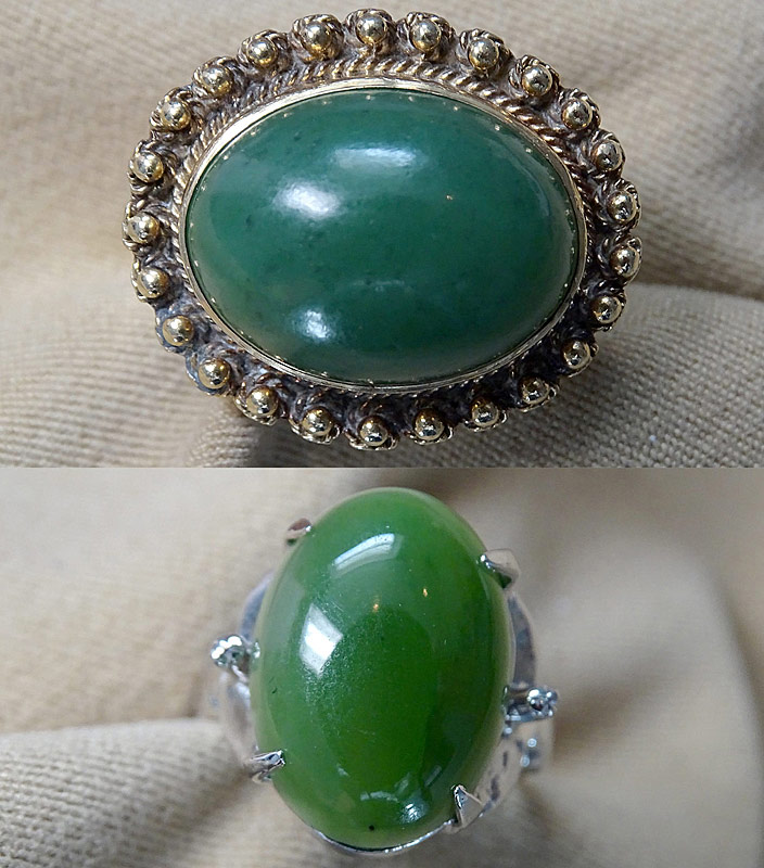 164. Two Jade Rings in Gold Settings |  $324.50