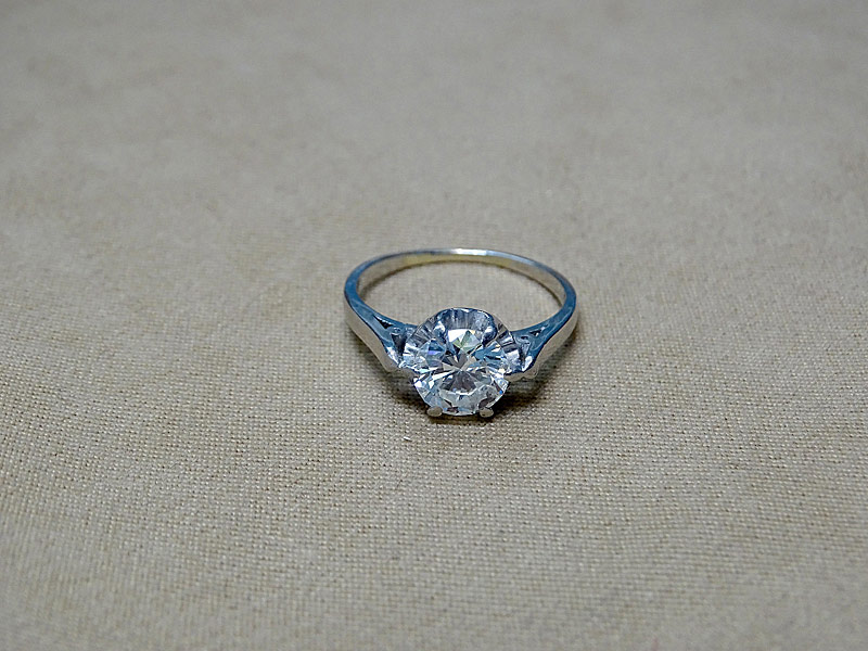 167. Solitaire Diamond Ring in Platinum; Apx. 1.75ct |  $10,620