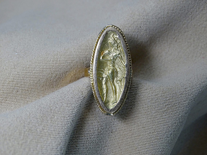 168. 18K Gold Repousse Ring |  $206.50