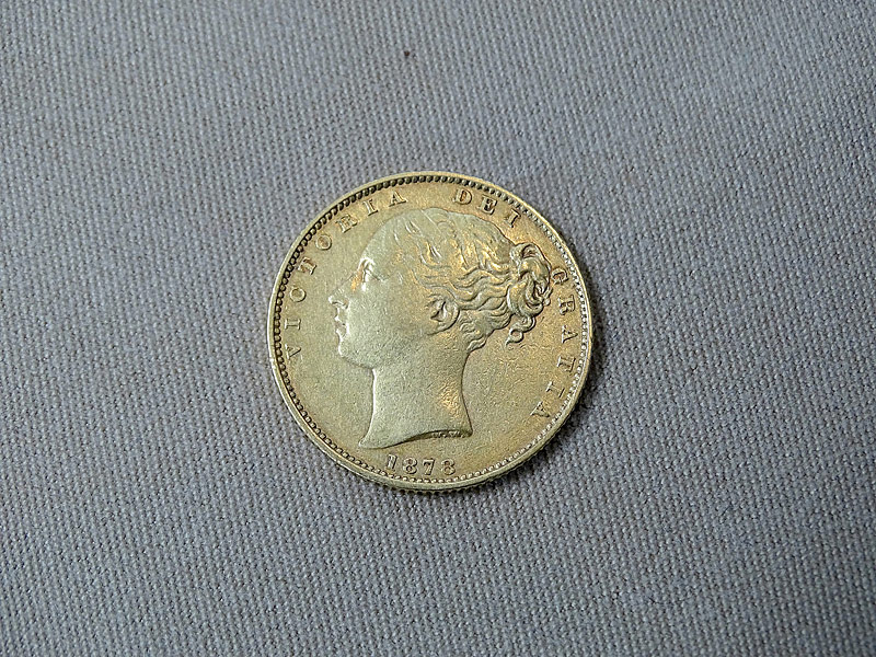 184. 1878 G.B. Young Head Victoria Gold Sovereign    $265.50