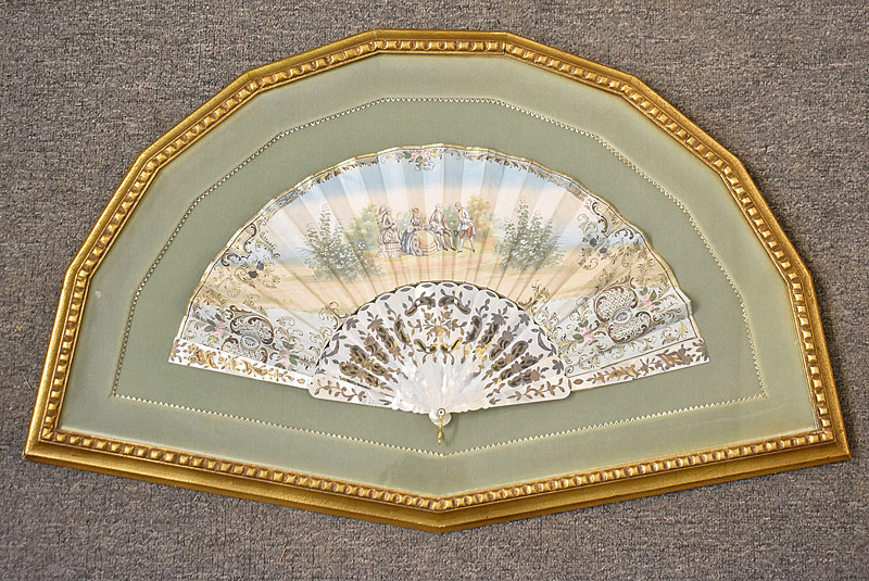 192. Frmd. French Hand-Painted Fan, M-o-P Handle |  $276.75