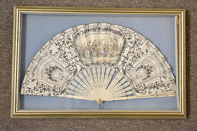 194. Frmd. French Fan with Courting Panel |  $35.40