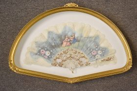 195. Frmd. French Fan with Courting Scene |  $153.75