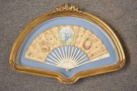 196. Frmd. French Hand-painted Fan with Portrait Panel |  $215.25