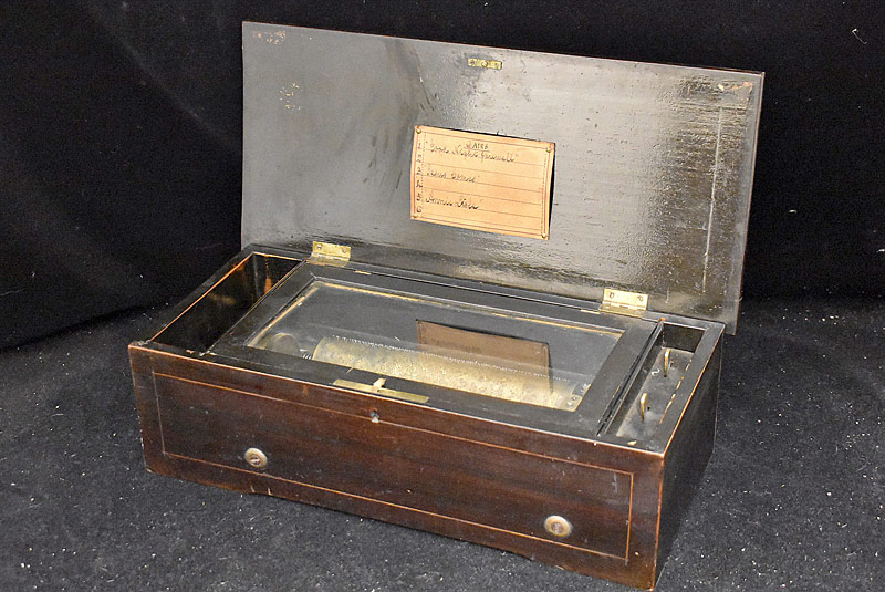 200. Swiss Cylinder Music Box with 8in Cylinder    $206.50
