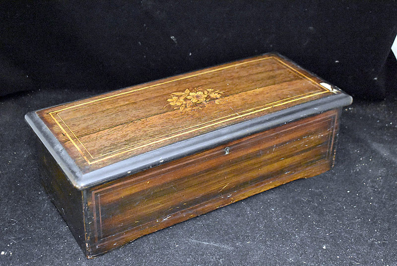 201. Swiss Cylinder Music Box with 9in Cylinder    $94.40