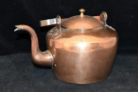 210. 19th Century Copper Kettle, marked. G. Tyron |  $399.75