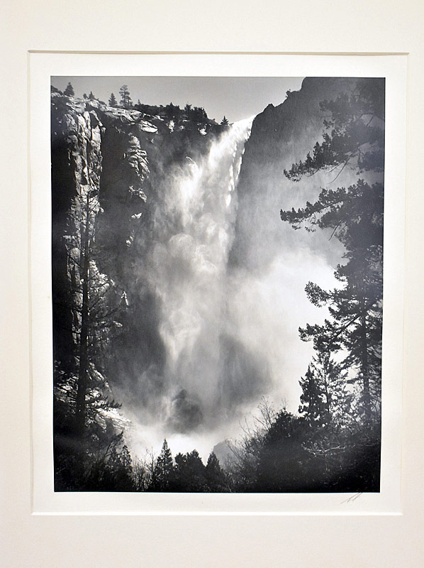 212. Ansel Adams. Silver Gelatin Photo, Brideveil Falls |  $861