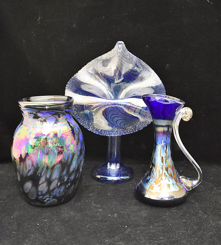 229. Three Pieces of Studio Art Glass |  $73.80