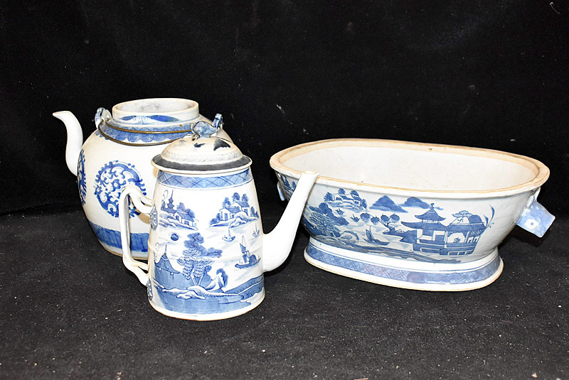 230. Three Pieces of Chinese Export Canton Porcelain |  $265.50