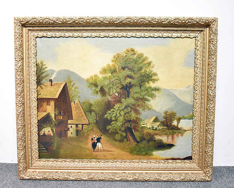 236. Thomas Shiland. Oil/Canvas, Folk Art Landscape |  $73.80