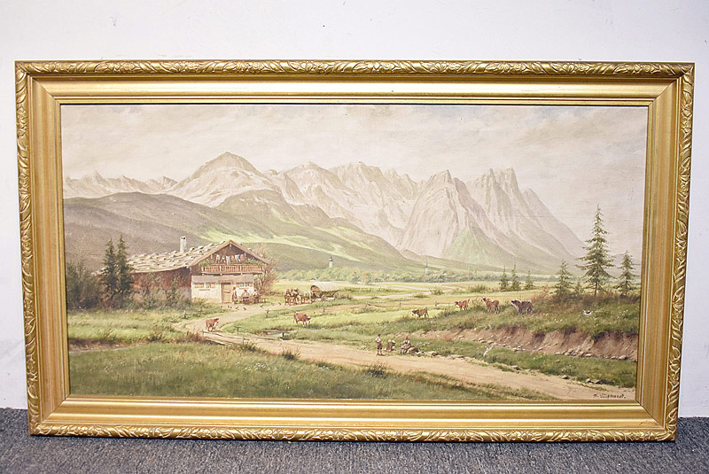 238. Karl Luckhardt. Oil/Canvas, Farm Landscape |  $59