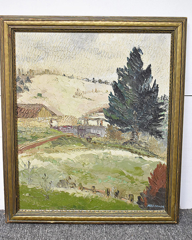 239. Freda Macadam. Oil/Cnvs, Landscape with Evergreen |  $354