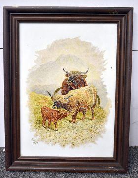 240. J. Hatton. Painting on Porcelain, Cows in Field |  $73.80
