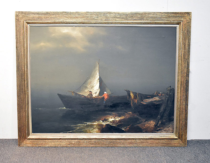 242. Artur Upelniek. Oil/Canvas, Coastal Scene |  $615
