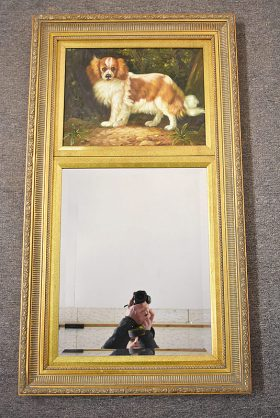 244. Two-panel Mirror with Dog Painting |  $23.60