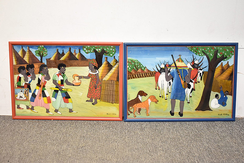 246. Two Mor Gueye Reverse-glass Paintings |  $354