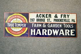 247. True Temper/Acker & Fry Hardware Store Tin Sign |  $184.50