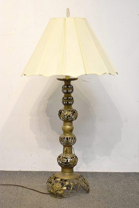 248. Large Indian Reticulated Brass Table Lamp |  $23.60