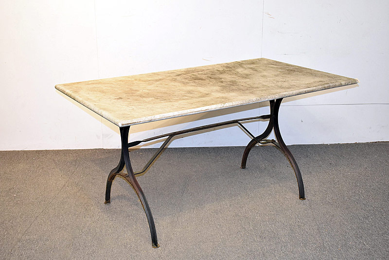 250. Marble-top Garden Table on Iron Base |  $215.25