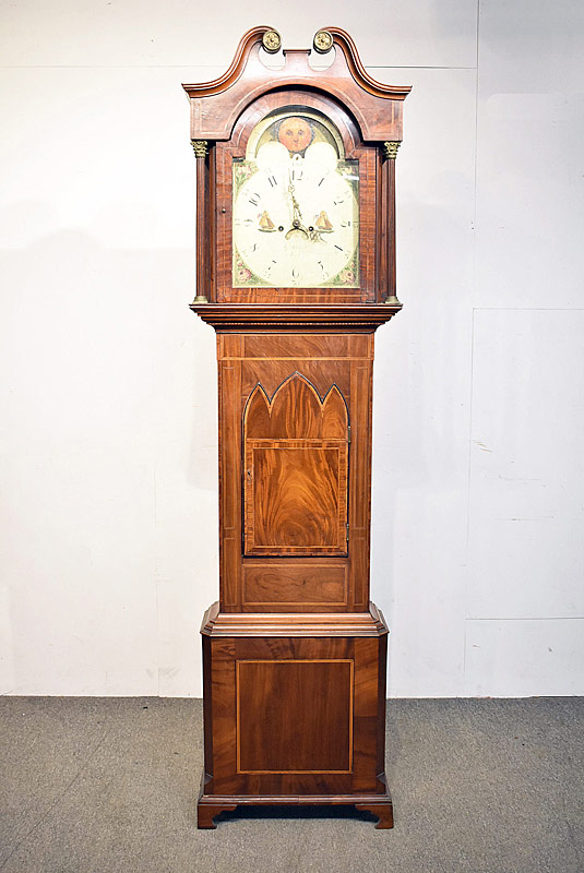 251. 19th Century Mahogany Tall Case Clock |  $676.50