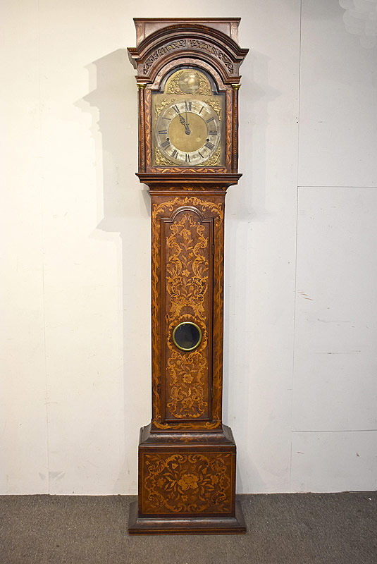 252. 18th C. Dutch Marquetry Tall Case Clock |  $1,121