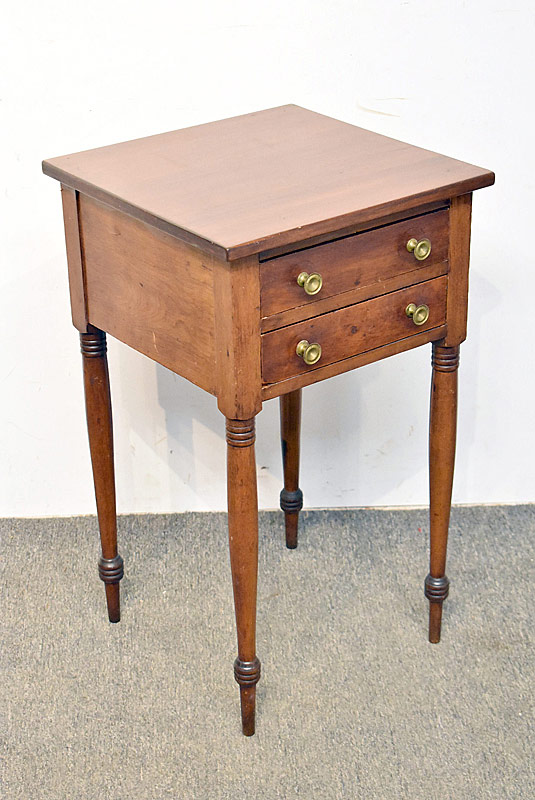 255. Two-drawer Walnut Work Table on Turned Legs |  $129.80