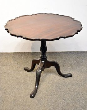 258. Chippendale Mahogany Pie Crust Tea Table |  $307.50