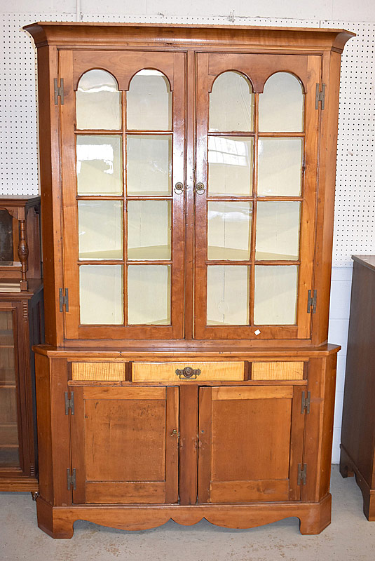 260. Federal Softwood Two-piece Corner Cupboard    $442.50