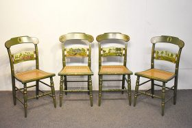 263. 4 Hitchcock 1976 Ltd. Ed. Stenciled Side Chairs |  $553.50