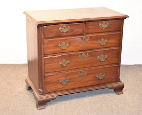 269. Chippendale Low Chest of Drawers	|  $430.50