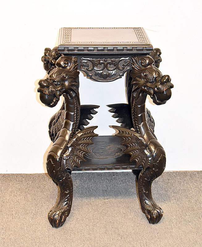 273. Japanese Meiji Carved Table |  $215.25