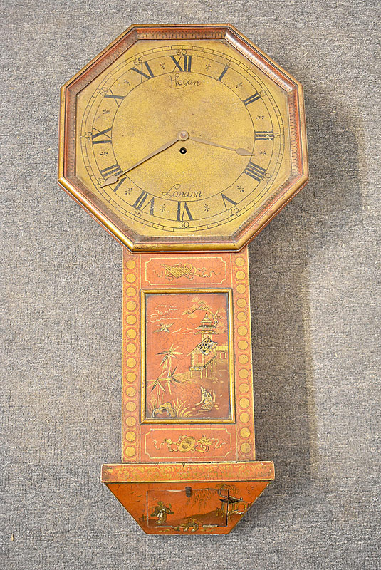 275. Red Chinoiserie Wall Clock, Hogan, London |  $984
