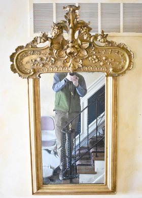 279. 19th Century Carved Giltwood-framed Mirror |  $184.50