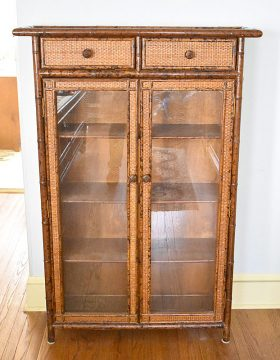 280. Decorator Faux Bamboo Cabinet |  $246