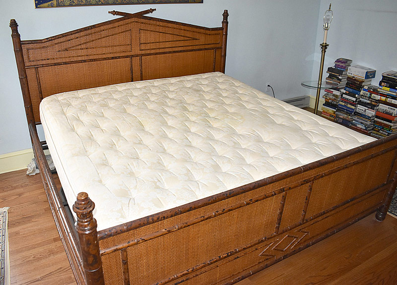 281. Decorator Faux Bamboo King-size Bed |  $1,476