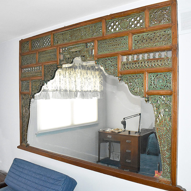282. Southeast Asian Carved Panel Mirror |  $147.50