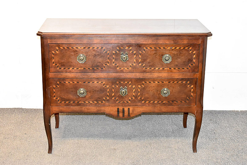 285. Henredon Inlaid Mahogany Two-drawer Commode |  $430.50