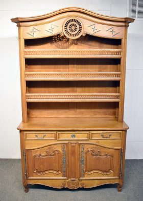 295. French Louis XVI-style Carved Oak Vaisselier |  $1,121