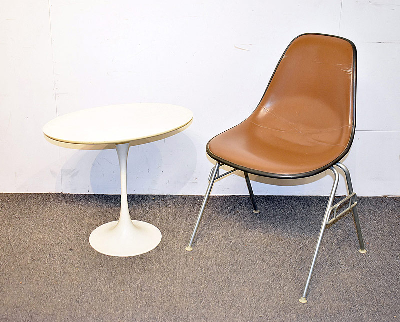 305. Modern Design Eames Shell Chair & Unmarked Tulip Table |  $86.10